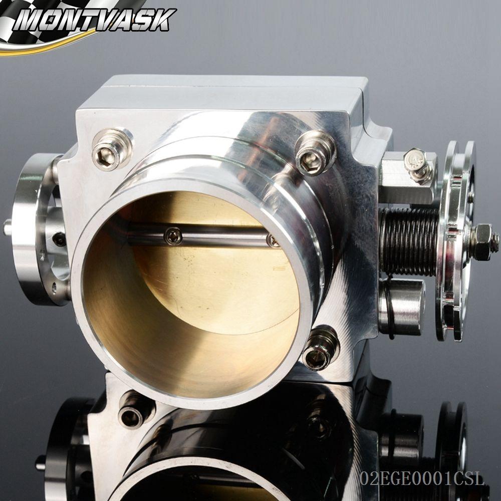 Silver Corpo Farfallato Corpo Farfallato Collettore di Aspirazione Universale ad alto Flusso Da 65 Mm In Alluminio CNC