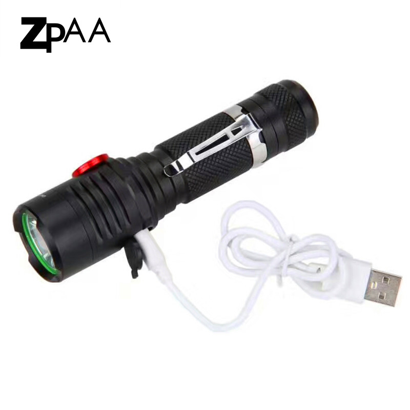 ZPAA LED Dimming Rechargeable USB XML L2 flashlight Torch LED  18650 torch waterproof Lamp light For Bicycle fishing outdoor sitemap 13 xml