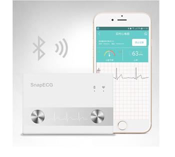 Monitor EKG do domowej bezprzewodowej pracy serca bez elektrod metalowych Monitor pracy serca domowego urządzenie do EKG ios Android tanie i dobre opinie Pelvifine Nadgarstek Ciśnienie krwi Wireless 4 0 iOS Android DC3 7V 5 years 10 -95 RH English 500ma