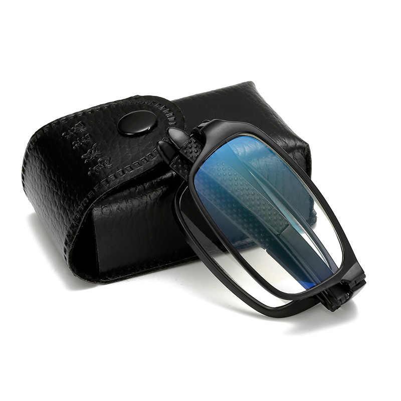 Ultraligero portátil Anti-Luz Azul plegable gafas de lectura + 4,0 de moda bolsillo presbiópico gafas Vintage marco gafas 637