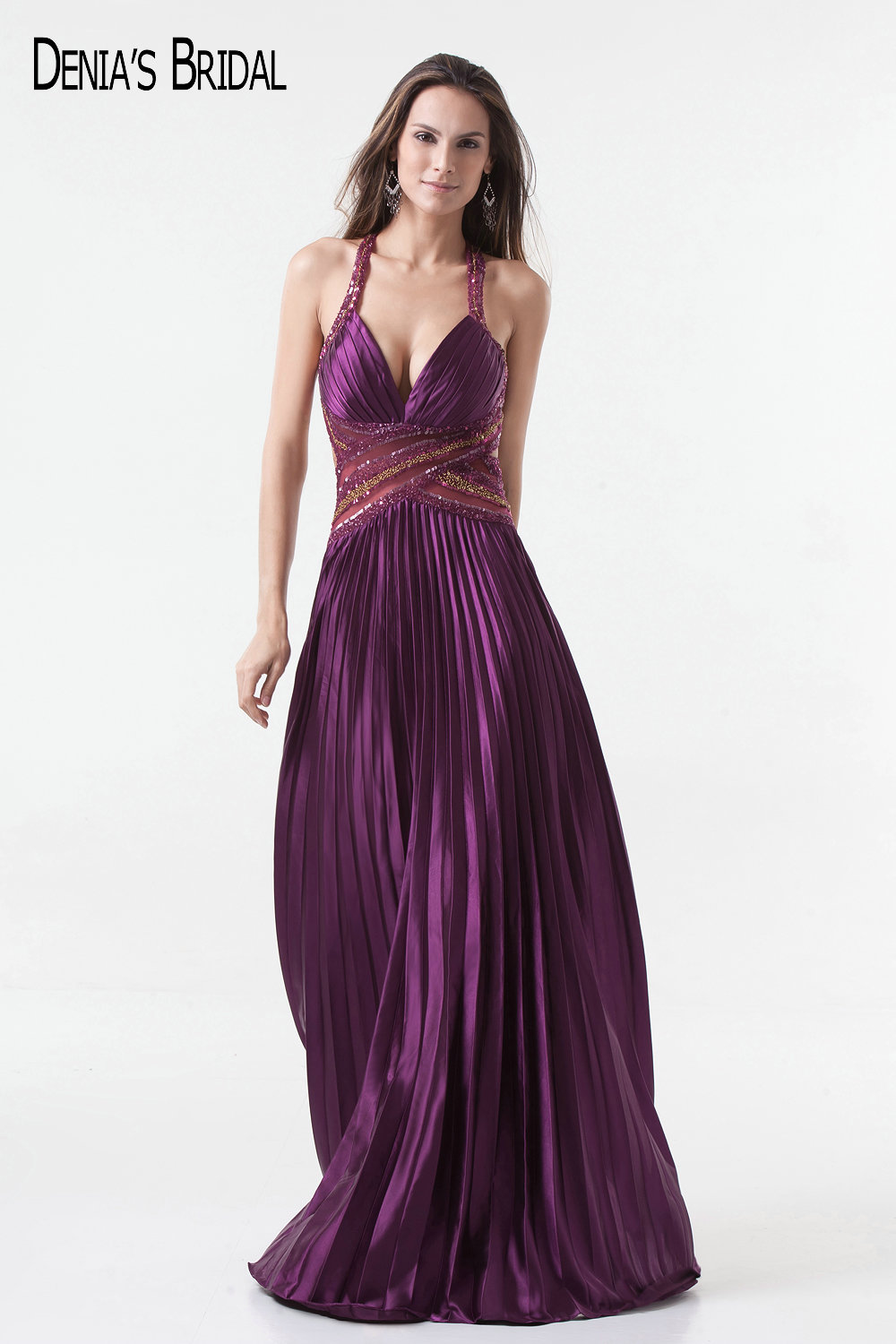 2017 Actual Images A-Line Evening Dresses with Sweetheart Neckline Pleats Floor-Length Beaded Sliver Prom Gowns