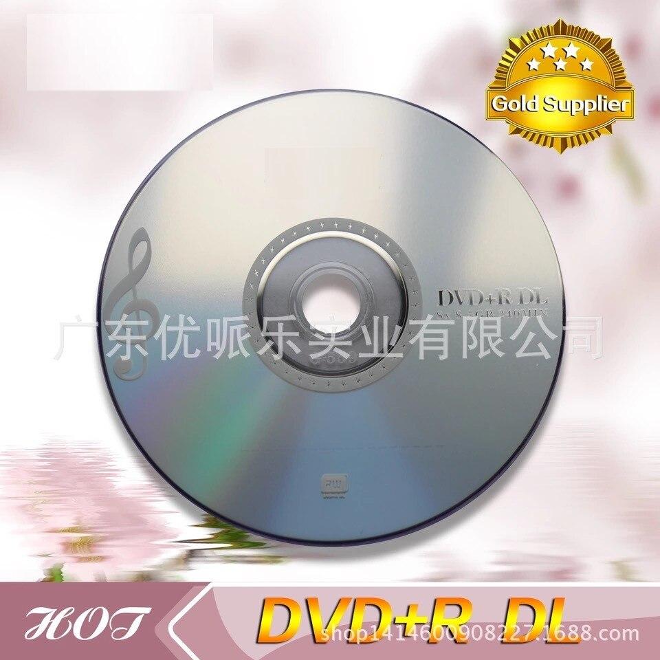 Venda por atacado 10 discos classificam a 8.5 gb em branco impresso dvd + r dl discos