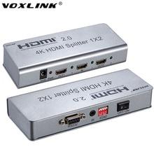 Voxlink 4 К 1×2 HDMI 2.0 Splitter 1080 P 1 в 2 из HDMI Splitter Switcher С EDID RS232 HDCP Поддержка ИК-удлинитель для HDTV