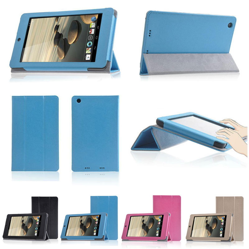 цены  Free shipping PU Leather Folding Stand Case Cover For Acer Iconia One 7 B1-730 B1-730HD 7