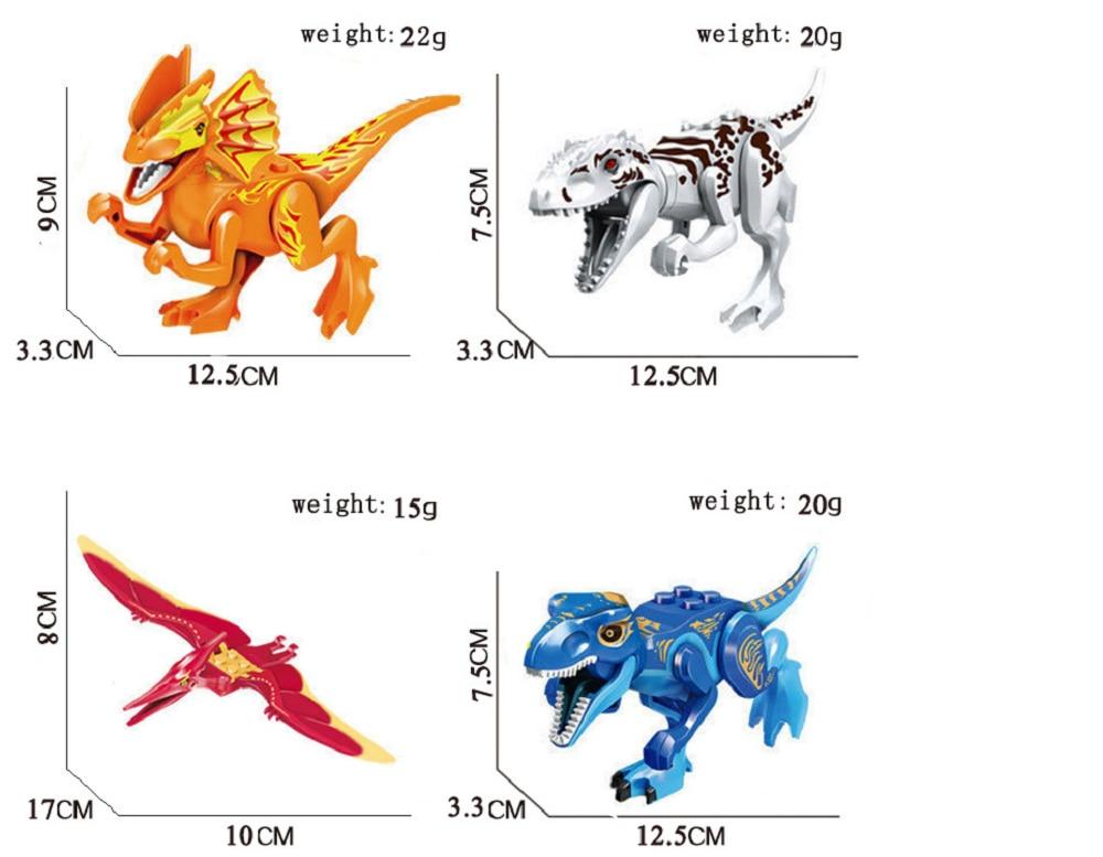Compatível legoing jurássico parque mundial tiranossauro dinossauros