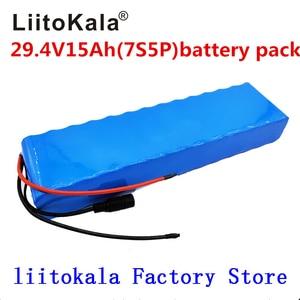 Image 1 - LiitoKala 7S5P 29,4 v 15Ah elektrische fahrrad motor ebike roller 24v li ion akku 18650 lithium akkus 15A