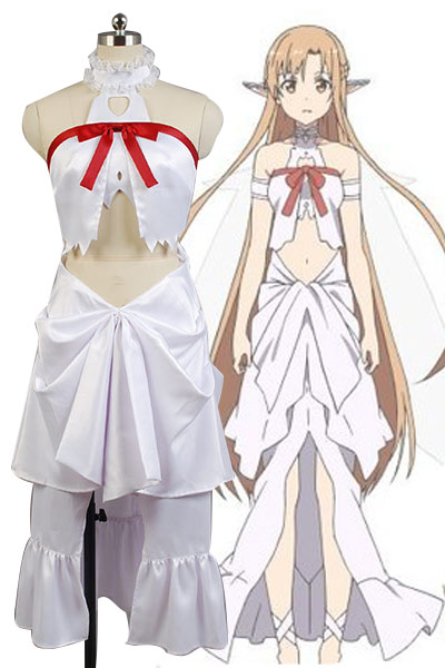 New Arrive Anime Sword Art Online Cosplay Costume Red Skirts Sword Art Online Yuuki Asuna Cosplay Full Set Costumes