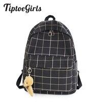 Небольшой свежий плед холщовый женский рюкзак новая мода высокое качество Студенческая сумка Повседневная дикая большая емкость рюкзак дл...