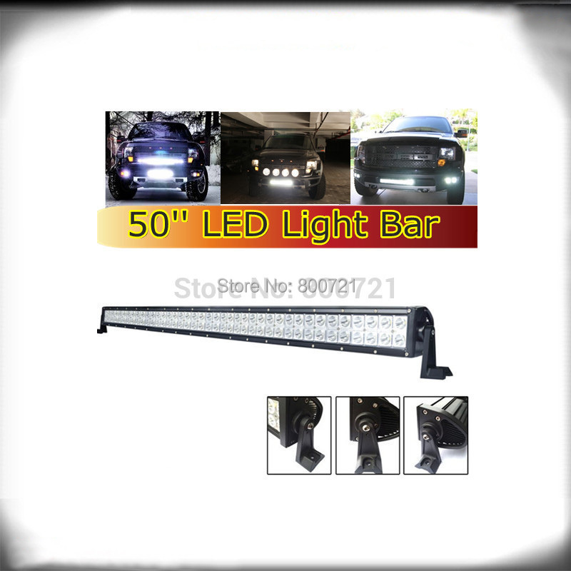 "1 pc double row offroad Epistar 50"" 288W led light bar with side brackets for trucks"