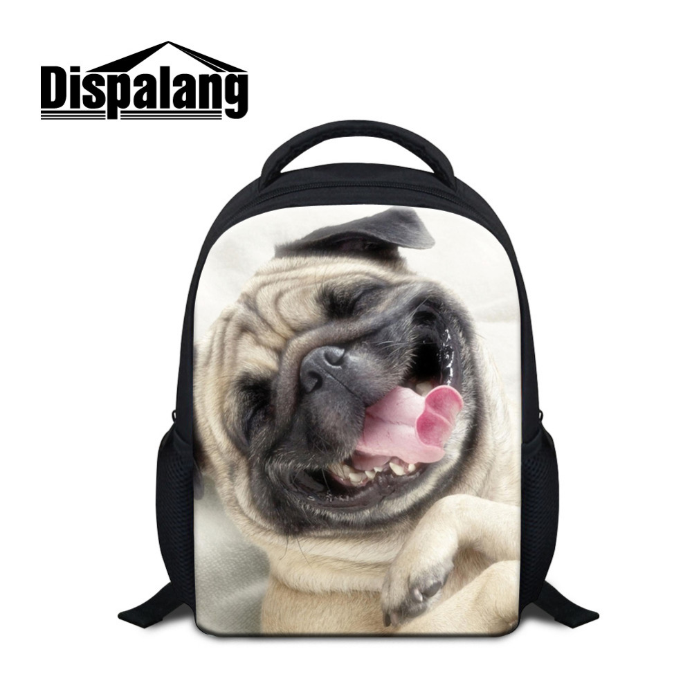 Dispalang Bulldog Backpacks Dog Animal Print Small School Bags for Girls Boys Children Mini Schoolbag Kids Kindergarten Bookbags