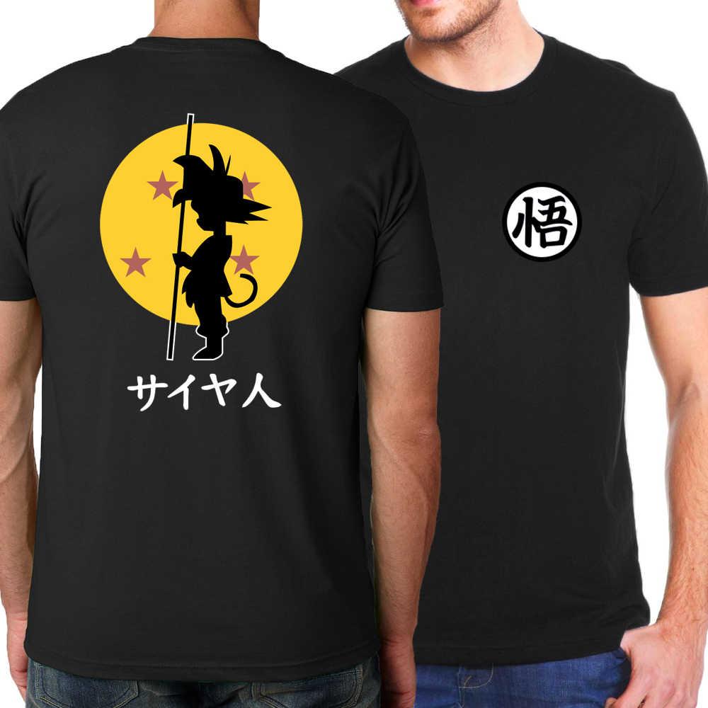 Новое поступление японского аниме Dragon Ball Z Goku мужские футболки 2017 летние модные футболки 100% хлопок высокого качества брендовые футболки