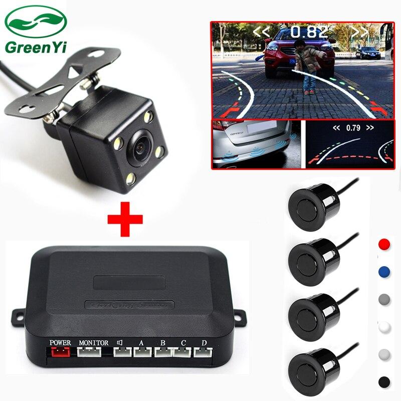 da71396bacd GreenYi Car Intelligent Trajectory Rear View Camera With Radar Parking  Sensor For Monitor DVD Player on Aliexpress.com