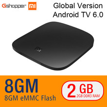 Original Xiaomi MI BOX TV BOX 4K Quad Core 3 Android 6.0 2G/8G Smart HDR Movie Set-top Box Multi-language Netflix YouTube Google(China)