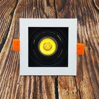 Светодиодный Потолочные светильники Светодиодный вставлять квадратный точечные лампы заменить GU10 5 Вт светодиодный потолочный светильник...