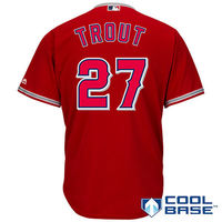MLB Men S Los Angeles Angels Mike Trout Baseball Scarlet Alternate Cool Base Player Jersey