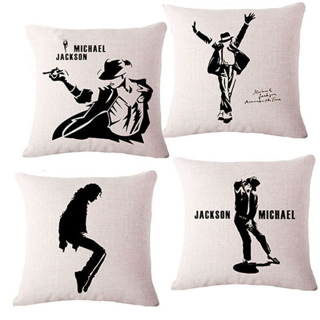 Strange Us 4 79 Fashion Style Michael Jackson 17 Home Sofa Bed Cushion With No Core For Chair Linen Decorative Throw Pillow Pad Case Cojin In Cushion From Ibusinesslaw Wood Chair Design Ideas Ibusinesslaworg