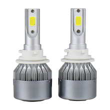 OVOVS 12V Automotive Fog Lamp COB 36W 3800LM LED Headlight H11 for Car H1 H4 H7 9005 9006 Headlamp