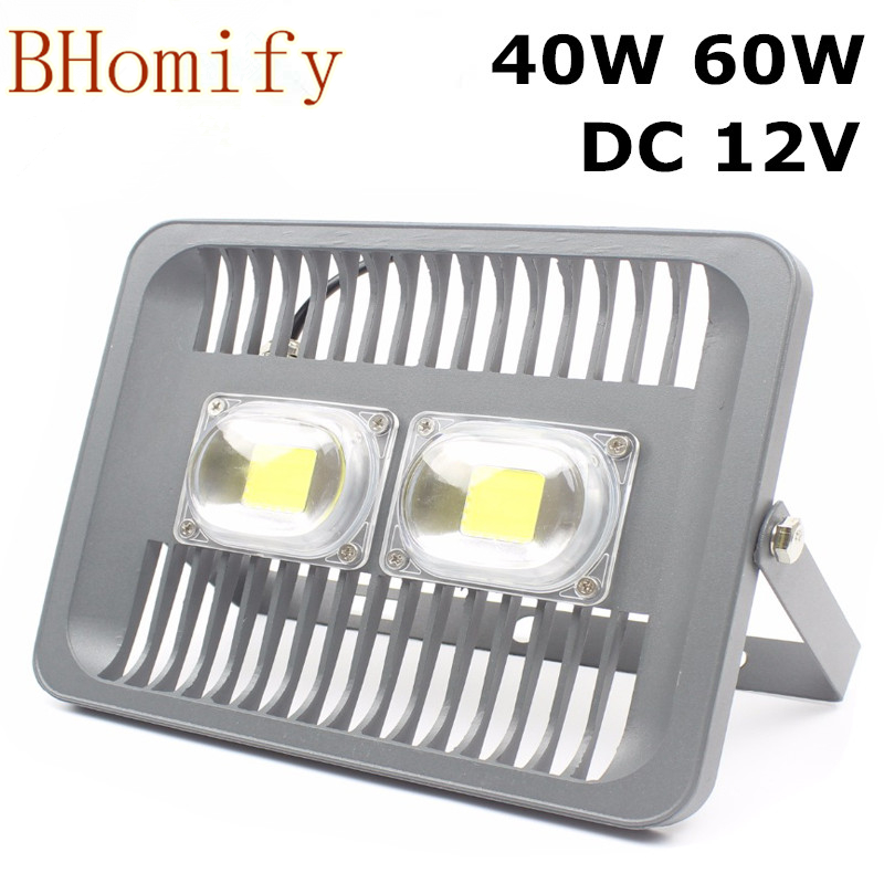 New Arrival 40W 60W Epliled waterproof 12V input led flood light white red green blue RGB led flood light super slim for outdoo ...