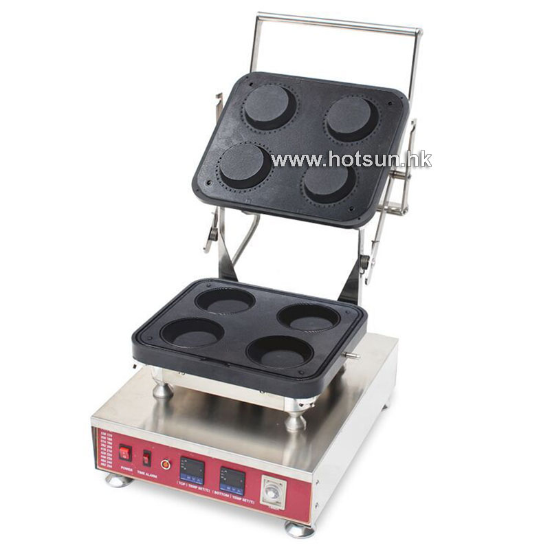 Free Shipping Heavy Duty Stainless Steel 110V 220V Electric 4pcs Circle Cake Cheese Tart Maker Machine With Removable Plate
