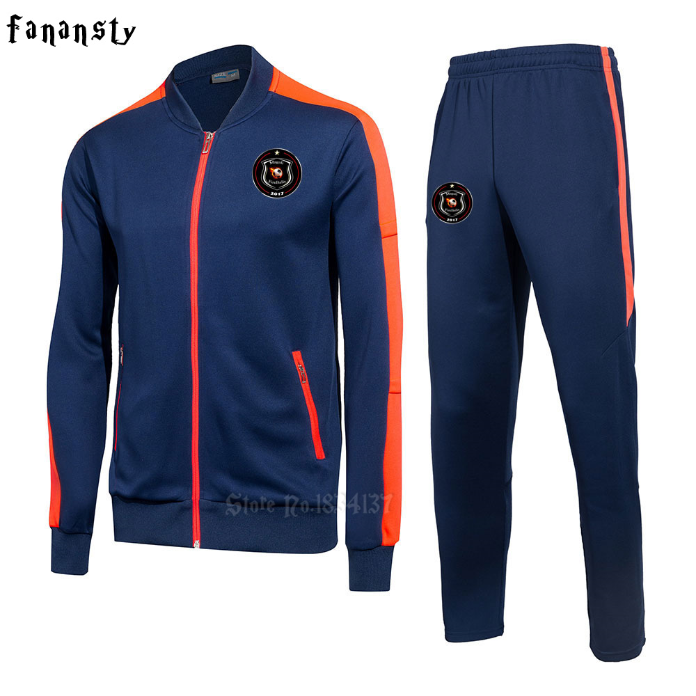 High quality tracksuit football 2017 training suits soccer men football training kit winter sportswear new