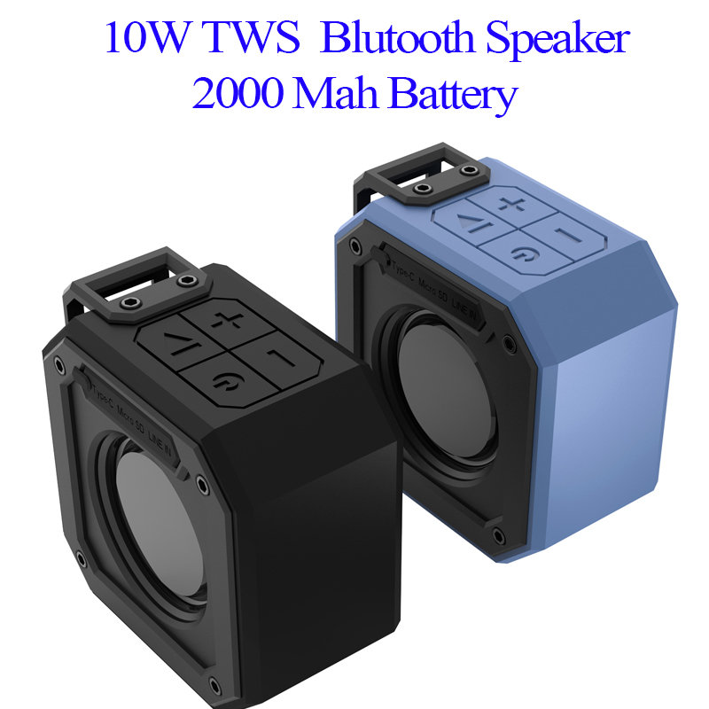 10W Wireless Bluetooth Speaker Waterproof Portable Super Bass Subwoofer Soundbar Support Type C USB TF Card for Computer Speaker in Portable Speakers from Consumer Electronics
