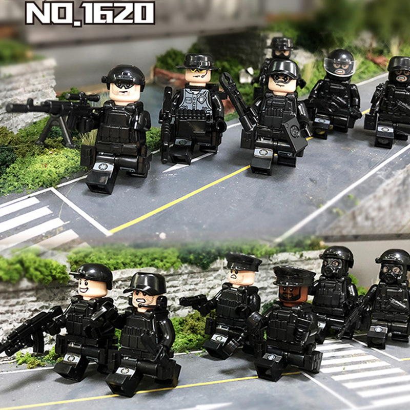 Military Police Series Armed Bulletproof Helmet Equipment Dolls Assembled Children Boys Building Blocks Toys Gifts Legoing Back To Search Resultstoys & Hobbies