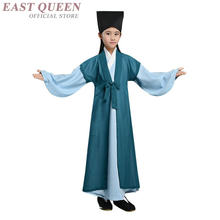 89c458f805 Chinese folk dance costume clothing hanfu girls kids stage wear national ancient  traditional Chinese dance costumes FF441
