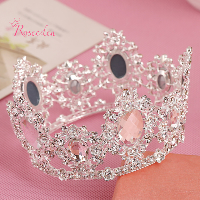 deb378d66 New Clear Crystal Ladies Tiaras and Crowns Bridal Simulated Diamond Wedding  Hair Accessories Hair Jewelry Freeshipping