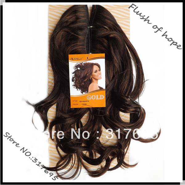 Premium Noble Gold Amarta Synthetic Hair Extensions Machine Wavy