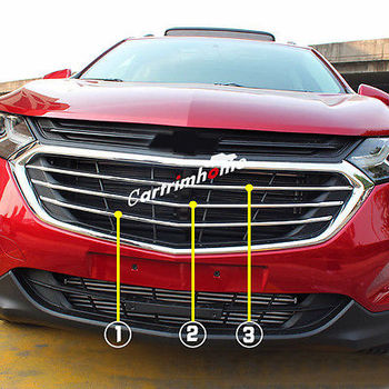 Chrome Depan Pusat Grille Grill Cover Trim untuk Chevrolet Holden Equinox 2017 2018