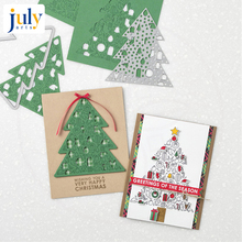 Julyarts Christmas Tree Cutting Dies Stencils for Scrapbooking Paper Cards Crafts DIY Embossing Folder Stencil 2018