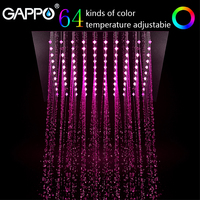 GAPPO shower head 12 Led Rainfall Shower Head system bath Square Color Changing Lights bathroom faucet water mixer