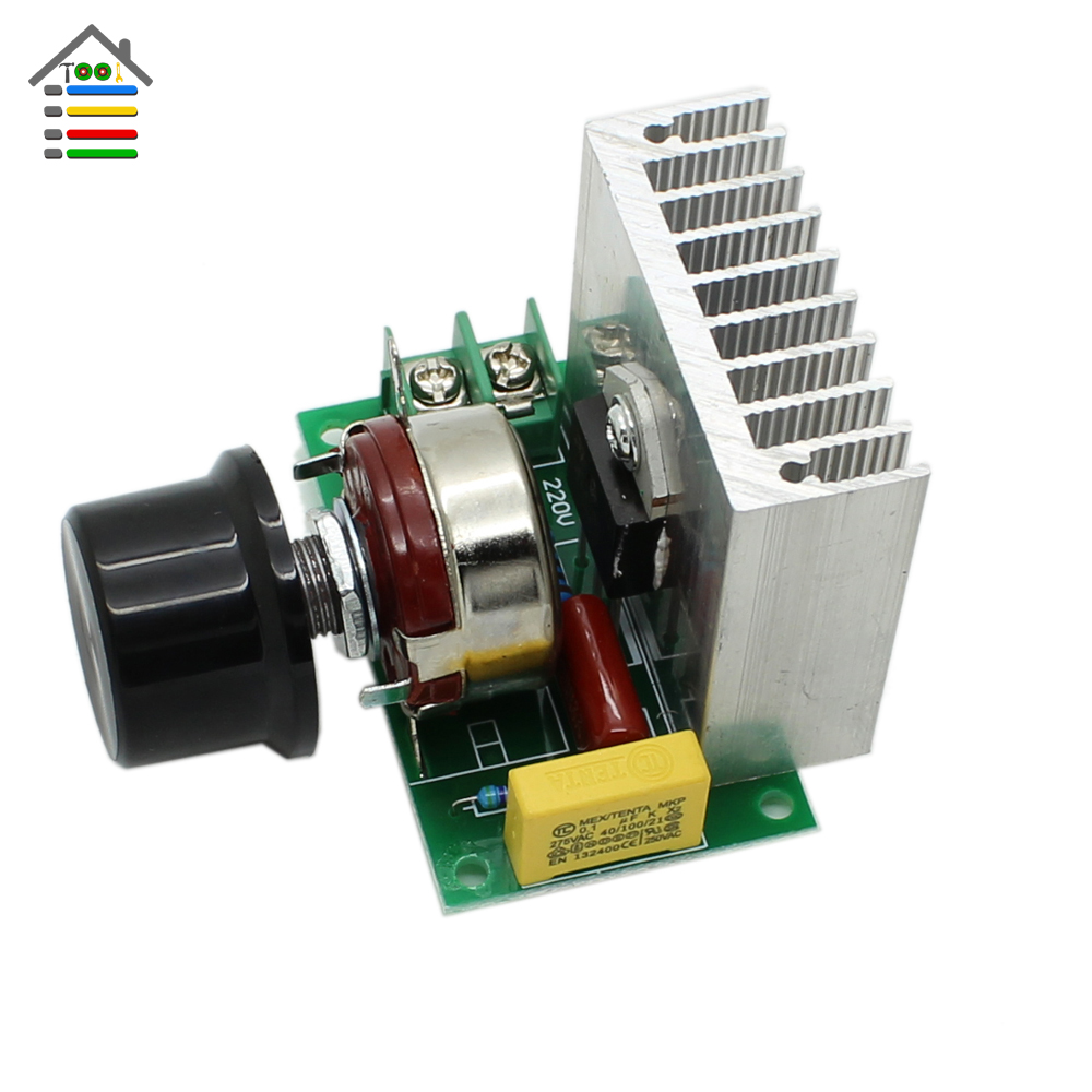 AC 0-220V 3800W Scr Voltage Regulator Speed Control Switch Dimming Dimmers Thermostat Fit For Brushed Motor 3800w thyristor high power electronic regulator dimming speed regulation thermostat