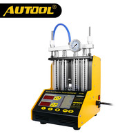 AUTOOL CT150 Car Injector Cleaning Tool 4 Cylinder Auto Ultrasonic Injector Cleaner Tester Diagnostic Machine 220/110V 2 in 1