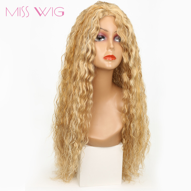 MISS WIG Long Wavy Hair Wigs for Women Synthetic Blond For White Women Heat  Resistant Fake Hairstyles Womens Hair Pieces ae9e147b59
