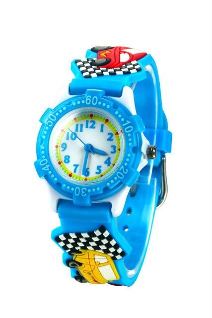 new fashion CARS cartoon watch kids watches children boy cool 3d rubber strap qu