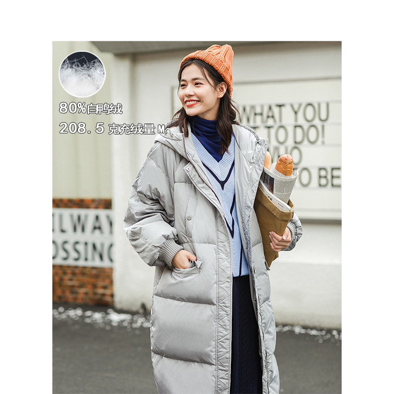 INMAN Winter New Arrival Hooded Causal Loose Style Thicken Windproof Warm Women Long Down Outerwear Coat