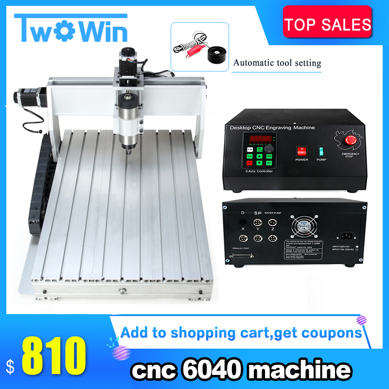 CNC 800W 1 5KW 2 2KW 6040 MACH3 CNC router Machine 3 Axis Engraver Engraving Machine