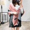 2016 зимняя Мода новый небольшие пчелы кашемир шарф для женщин Европа и соединенные Штаты толстая теплая Люксовый бренд шаль