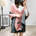 2016 winter Fashion new small bee cashmere scarf for women Europe and the United States thick warm Luxury brand shawl