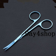 1pc Titanium Iris Scissors Curved  20mm tip ophthalmic eye surgical instrument цена и фото