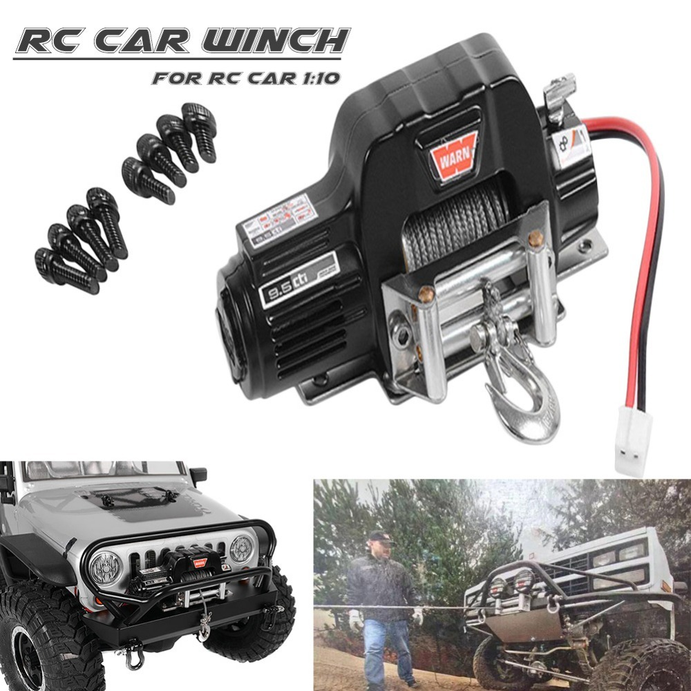 Hot TRX4 KM2 Generation 1/10 Simulation RC Climbing Car Radio Control Full Metal Winch D90 SCX10 Electric Winch drop shipping