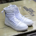 New 2016 High Top Casual Men Winter Boots Leather Casual Men Casual Shoes Autumn Breathable Zapatos Hombre Red Boots Men 3 color