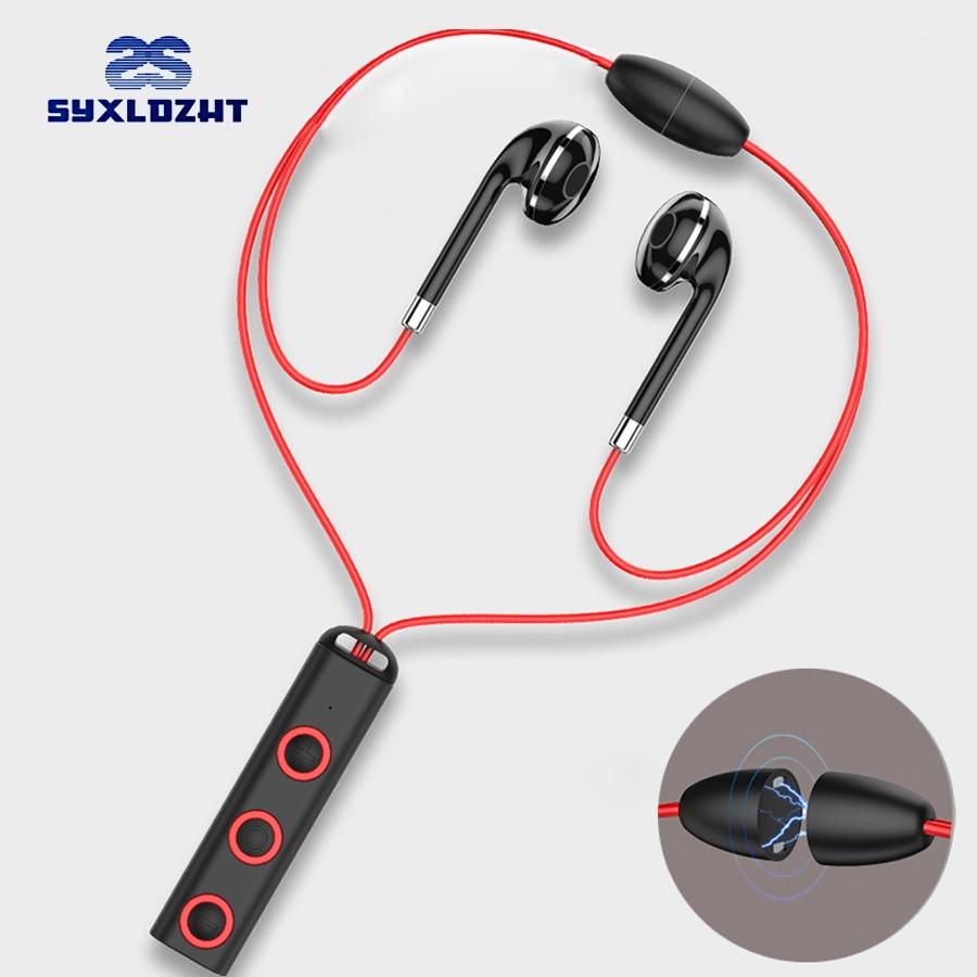 Sports Bluetooth Earphone Magnet Wireless Headset With Mic Bass Earphones Earbuds HiFi in ear Earpiece For mobile Phone Xiaomi