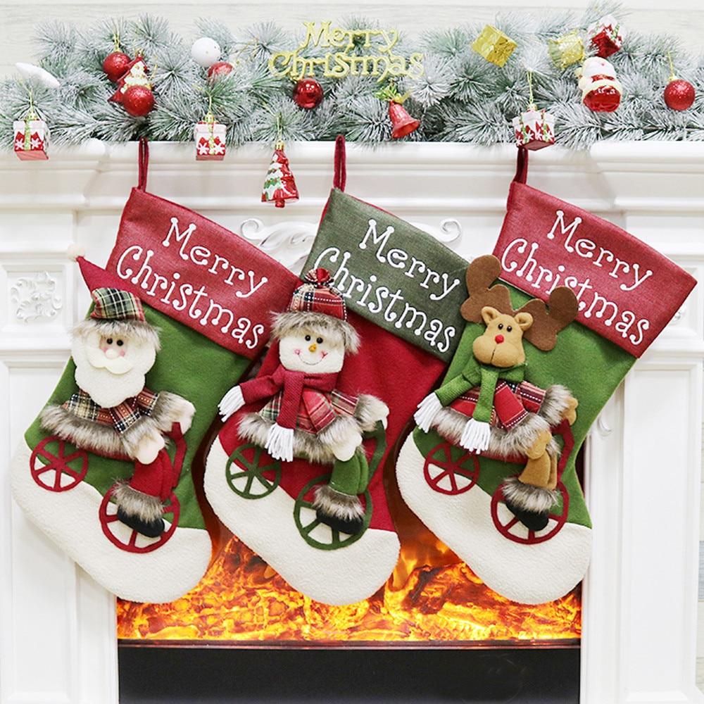 DUE ESSE SRL Set of 12 Giant Christmas Stocking 80 cm Home ...