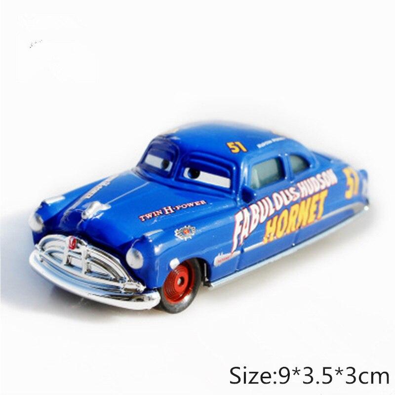 Disney Pixar Cars 3 2 Fabulous Hudson Hornet Sally Mater Lightning McQueen 1:55 Diecast Metal Alloy Model Cars Kid Gift Boy Toy