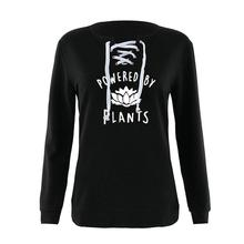"Amazing ""Powered By Plants"" women's hoodie"