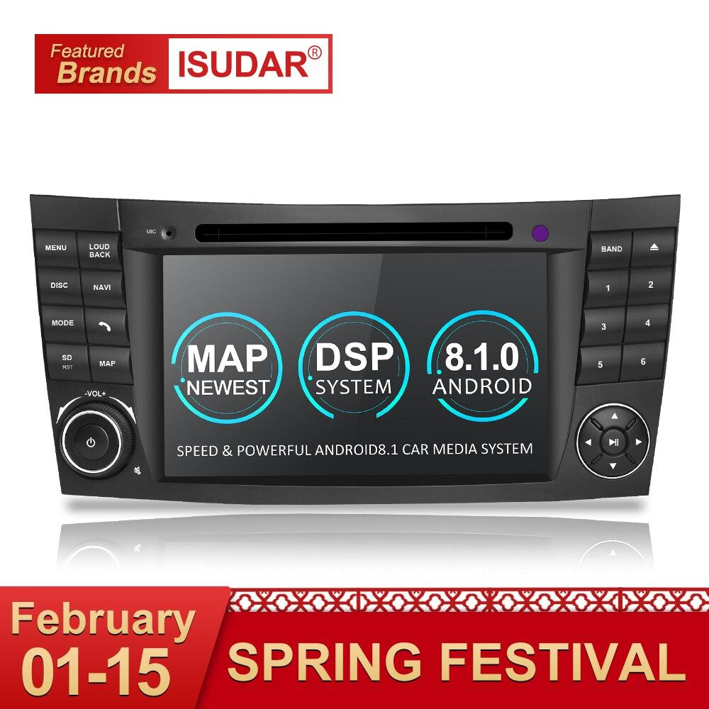 Isudar Due Din Car Multimedia Player Android 8.1 Lettore DVD Per Mercedes/Benz/E-Class/W211 /E300/CLK/W209/CLS/W219 GPS Radio 16 GB