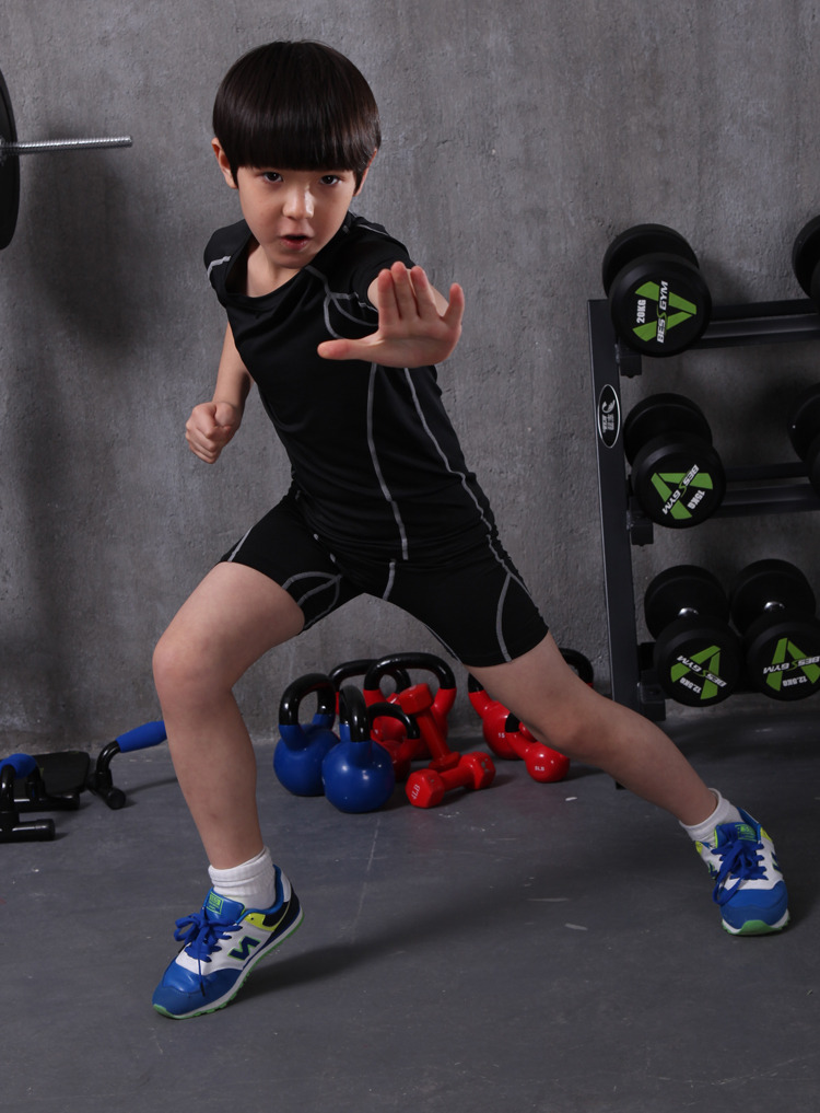 G-LIKE Children Short Sleeve Fitness Quick Dry Tights Suits Firm Fit Breathable Martial Arts Suit Bodybuilding Clothing Pants