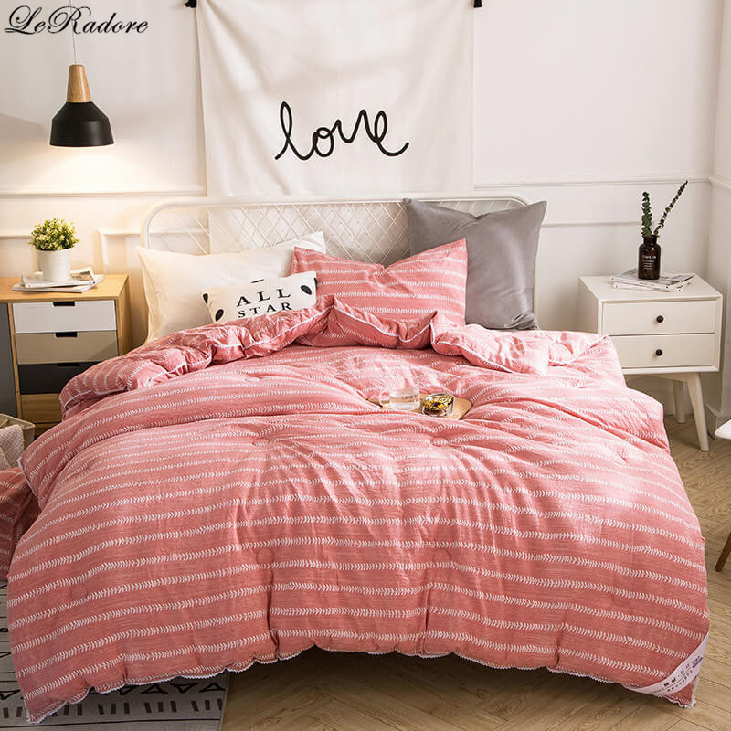 leradore washable cotton thicken duvet polyester comforter quilt queen king full size blanket. Black Bedroom Furniture Sets. Home Design Ideas